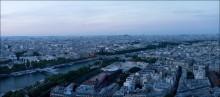 Вечерний Париж / панорама из 10 кадров