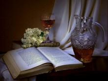 С вином и книгой / приятности жизни