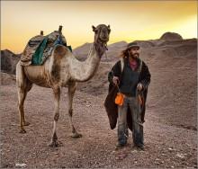 Бедуин и его спутник / Израиль, пустыня Негев близ Эйлата