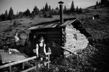 Алеся - защитница / которая 120 (!!!) дней проводит на горной полонине с родителями,  высота  не менее 1100,