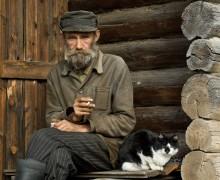 Деревенский портрет с котом Степаном / Без коментариев