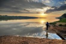 Рассвет на рыбалке / Протока р.Обь