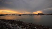 Сиамский залив / на закате
