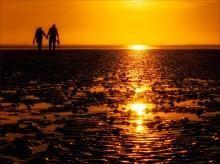 Где-то на краю Земли...или... / Снимок сделан на Северном море во время заката.