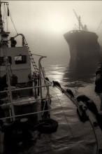 Утро в порту. / Одесский порт. Туманное утро.