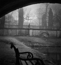 утро / совсем не весеннее фото из-под моста в парке палаца Браницких.