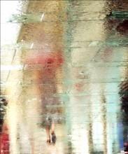 то ли девушка, то ли виденье... / отражение на мокрой дрожной плитке корректировка только в части цвета