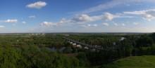 Наша Клязьма / г. Владимир вид со смотровой площадки на р. Клязьма и загородный парк лето 2011