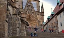 beseda / Erfurt , lestniza v Soborniy Dom Goticheskoy zerkvi