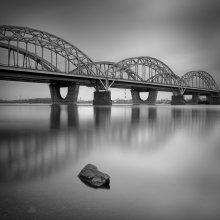 Reflection / Дарницкий автомобильно-железнодорожный мост, Киев