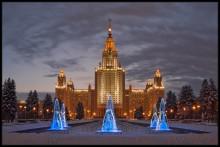 ФОНТАНЫ МГУ / В январе.