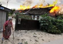Пожар в деревне. / Пожар в сельском доме...