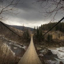    Подвесной мост     / мост над р. Прут