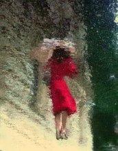 дождевая картинка / отражение на мокром асфальте