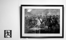нашествие Бонапарта и отступление Кутузова / музей Багратиона  1-гравюра на бумаге 2-пластик-плоттер