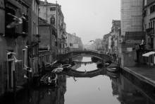 За Академией / Дальние кварталы Венеции. Зимняя. Был вариант в цвете.