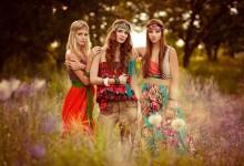 Hippy / photo: Boris Bushmin make-up: Angelina Sokolova style: Yuliya Didichenko model: Irina Ponomareva,  Alexandra Zvereva, Alina Suslova