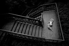 Геометрический вальс / день лестница модель фотограф