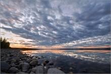 Север на закате... / Кольский п-ов, река Пиренга. Через некоторое время наступила ночь и мы уже любовались не закатом а северным сиянием...