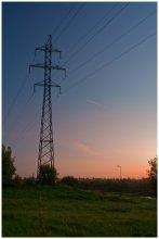 ЛЭП / Закат под линией электропередач.