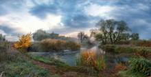 Утро Осенней Реки / пейзаж