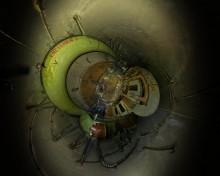 Подземный бункер в Беловежской пуще. / Для правильного восприятия рекомендуется просмотр во флеше. http://sferitus.com/panorama/trash/bunker-2_condi.php