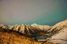 Осенняя ночь на Большом Алматинском Озере (3) / 3х15 мин, ISO 200, f/4.0