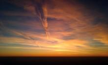 Routes To Souls / где-то 10 000 m над землей, перелет из Киева в Минск, 7 ноября, закат. снято случайно телефоном