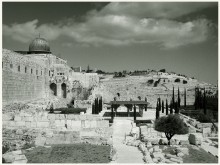 иерусалимская открытка / Археологический парк Офель, созданный в результате раскопок Храмовой горы