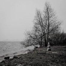 нежданный гость ... / осенний снеговик , Минское море .