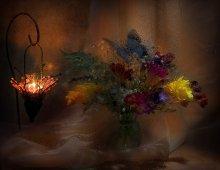 Вечерний свет / Мокрое стекло, световая кисть