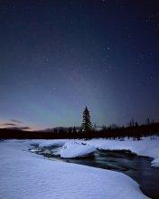 Звезды уходят... / Последние северные звездные ночки, скоро будем любоваться солнцем круглые сутки...