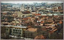 "Vilnius. The first mentioned in chronicles in 1323. / Вильнюс. ""Кусочек"" старой части города."