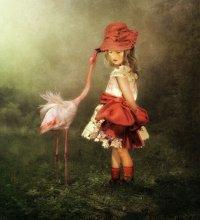 Красная шляпка / фотоколлаж