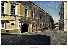 Улицы моего города / Вильнюс.  ул. Университето. Слева, внизу, видна часть Президентского Дворца.