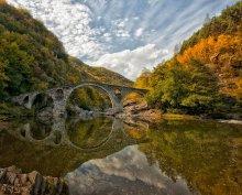 The Devil's Bridge / Чертов мост находится недалеко от города Ардино в Болгарии.