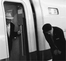 Прибытие поезда / Токио. Shinkansen