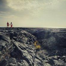 Ландшафт Взаимоотношений / лавовые поля, Гаваи.
