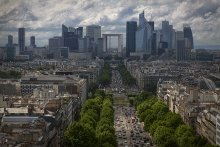 Париж / Вид на район Де Фанс.