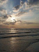 Балтика. / Закат и Балтийское море.