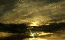 небо к ночи / уже темнеет
