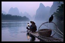 Рыбак и его верные птицы..... / ***