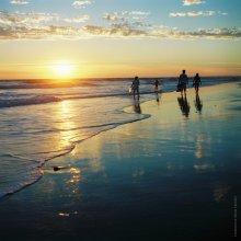 Atlantic ocean. Sunset. France. / .....................