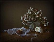 С ракушками... / Осенний букетик и ракушки