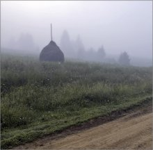 В Карпатах утренний туман... / Я выпил утренний туман, Что молоком, спускаясь по плечам, В ладони падал...