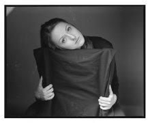 портрет в студии / студия, один источник, плёнка 6х7