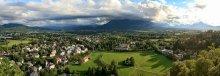 Панорама Зальцбурга  с юго-западной стороны / панорама из 9 вертикальных снимков