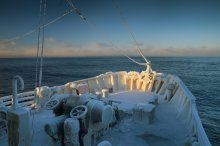 Ледниковый период в эпоху глобального потепления / Баренцево море, февраль, -20°С