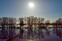 Зеркало-река / Ночной пейзаж