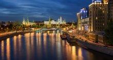 Московская ночь / Панорама из 5-ти вертикальных кадров